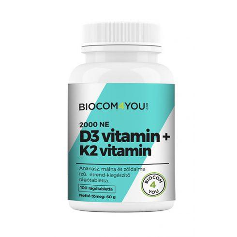 Biocom K2+D3-vitamin 100 db