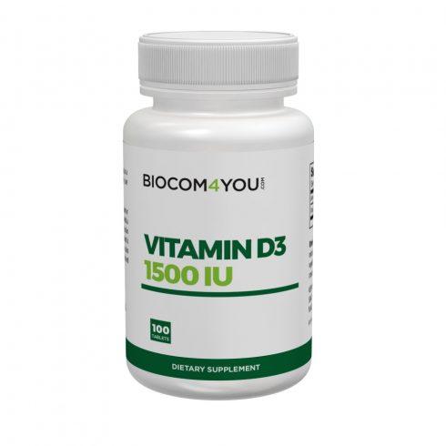 Biocom Vitamin D3 1500 IU tabletta 100 db