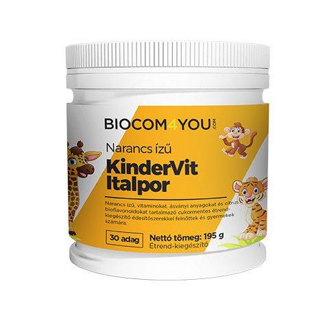 Biocom Kindervit narancsízű italpor 190 g (30 adag)