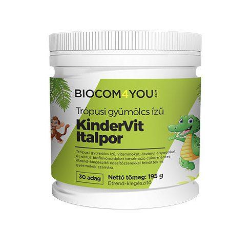 Biocom Kindervit trópusi gyümölcsízű italpor 190 g (30 adag)