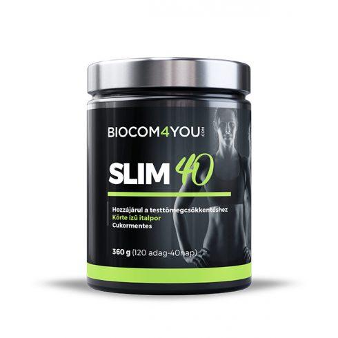 Biocom Slim 40 körte ízű italpor 360 g