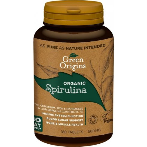Green Origins bio spirulina tabletta 180 db