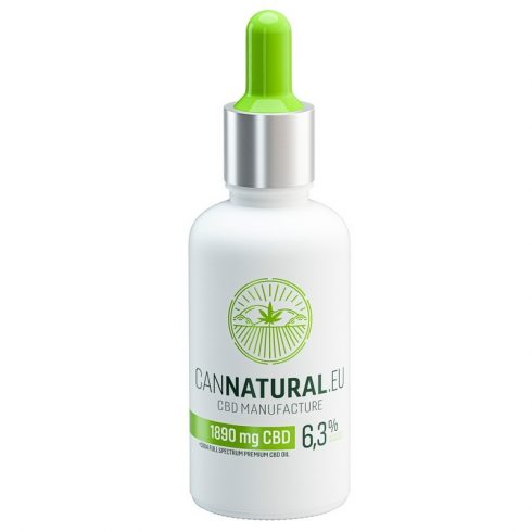 Cannatural 1890 mg 6,3% Fullspektrum CBD Olaj 30 ml