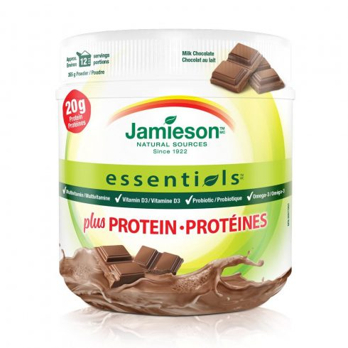 Jamieson Essentials™ plusz Protein tejcsokoládé ízesítéssel - 355 g