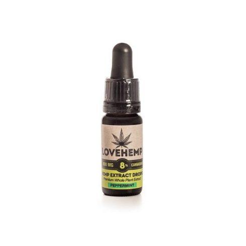Love Hemp® 800mg 8% CBD olaj – 10ml Borsmenta ízesítéssel