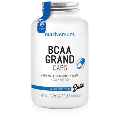 Nutriversum BCAA Grand caps kapszula - Basic - 100 db