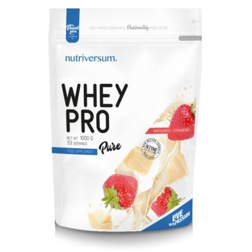 Nutriversum Whey Pro fehérjeturmix fehércsokoládé-eper 1000 g