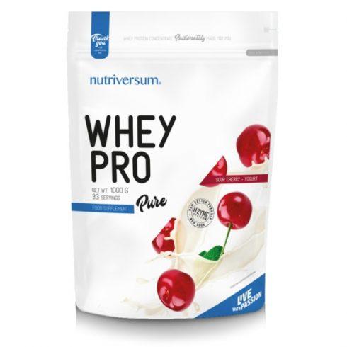 Nutriversum Whey Pro fehérjeturmix meggy-joghurt 1000 g