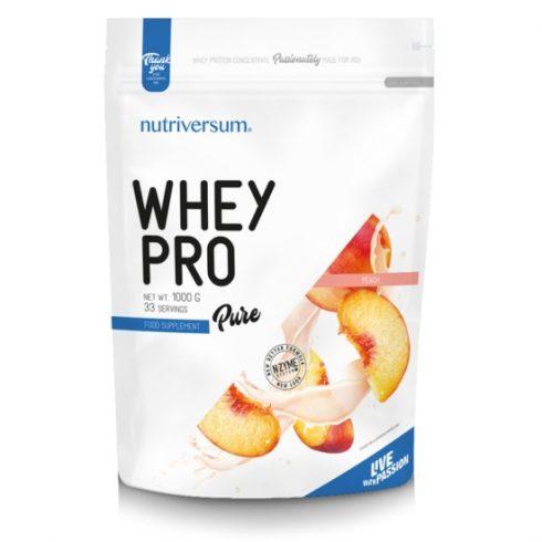 Nutriversum Whey Pro fehérjeturmix őszibarack 1000 g