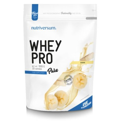 Nutriversum Whey Pro fehérjeturmix banán 1000 g