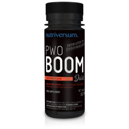 Nutriversum PWO Boom energizáló - Dark - 60 ml - grapefruit