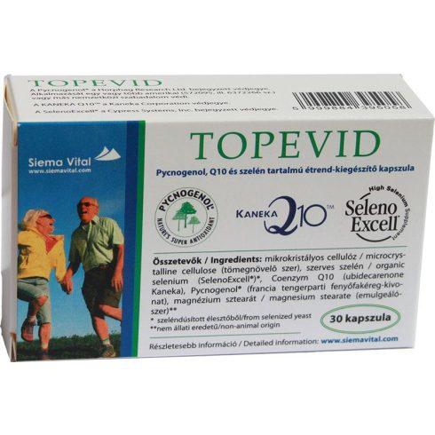 Topevid kapszula Pycnogenol,Q10 és szelén tartalommal,30db