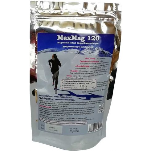 MaxMag magnézium-citrát italpor - 120 g