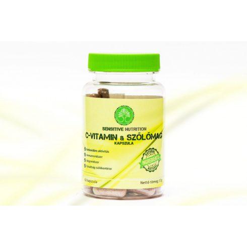 Sensitive Nutrition C-vitamin & szőlőmag kapszula 60 db
