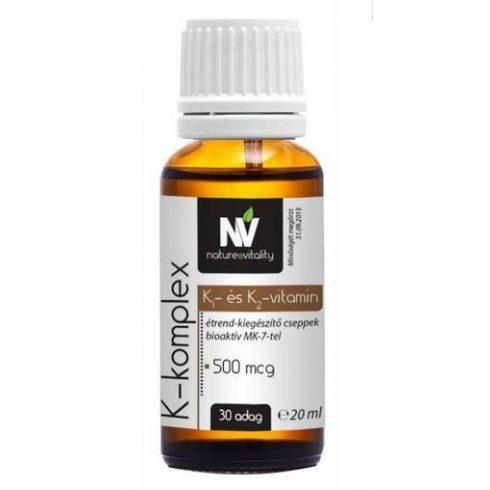 Nature & Vitality K-komplex 500 mcg, 30 adag
