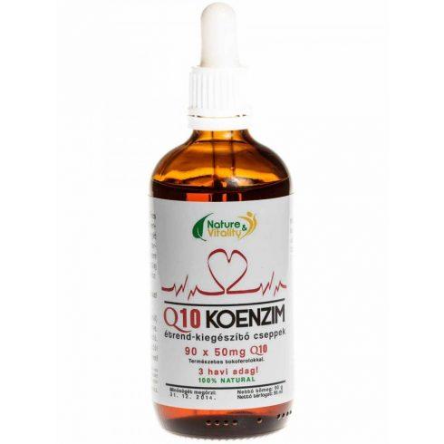 Nature & Vitality Q10-koenzim cseppek E-vitamin-komplexszel