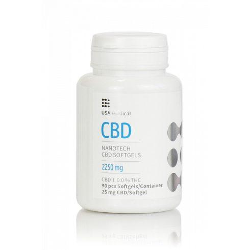 USA Medical CBD olaj drazsé 90 db 2250 mg