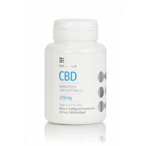 USA Medical CBD olaj drazsé 90 db 2250 mg