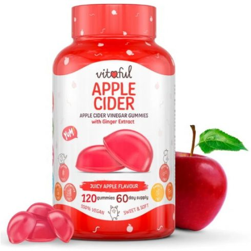 Vitaful Apple Cider almaecet gumivitamin 120 db
