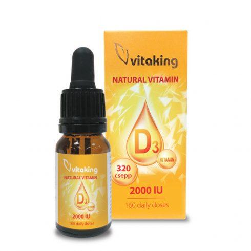 Vitaking D3-vitamin csepp 2000 NE, 10 ml