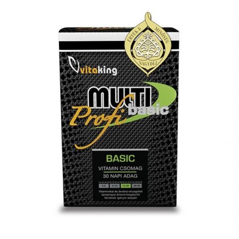 Vitaking Multi Basic Profi multivitamin csomag, 30 adag