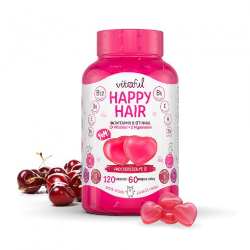 Vitaful Happy Hair hajvitamin 120 db gumivitamin